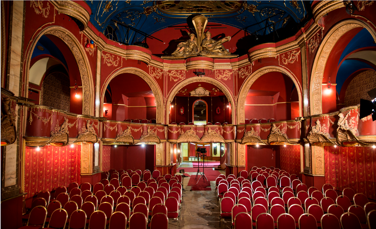 The intimate auditorium of the Kalman Theatrum. (Photo: Budpest Operetta Theater)