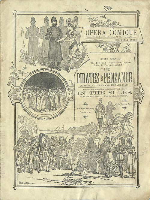 Programme cover for the 1881 production at the Opéra Comique in London.
