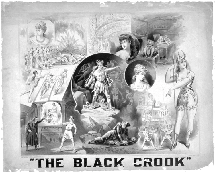 "Poster for the original ""Black Crook"" production."