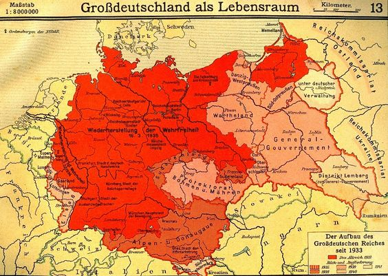 "A historical map showing how the Nazis ""found"" new ""Lebensraum"" in the East."