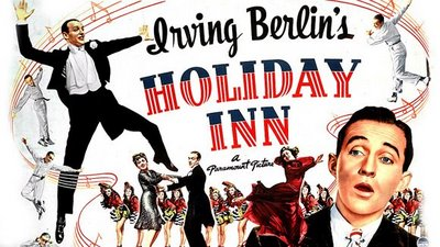 "Promotional poster for the 1942 movie ""Holiday Inn."""