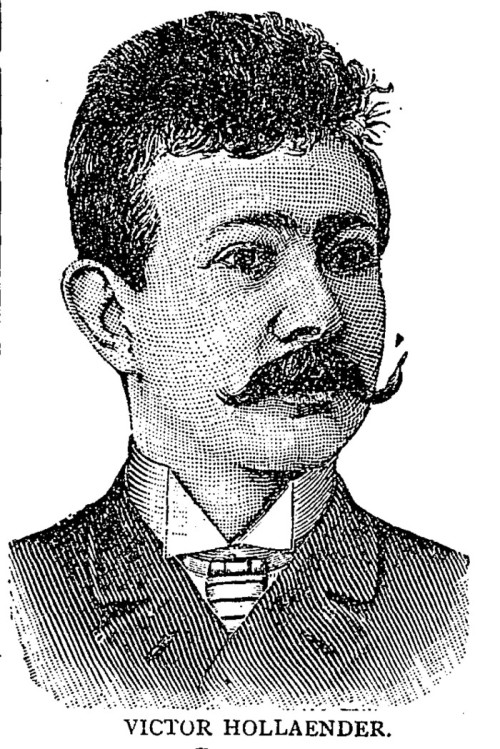"Victor Hollaender in Milwaukee, 1890. ""Yenowine's Sunday News,"" September 14, 1890. (Collection Alan Lareau)"