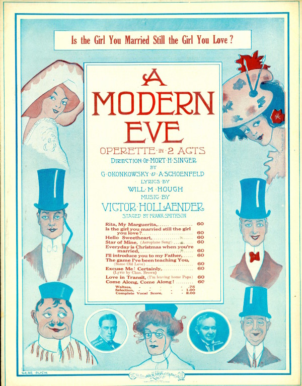 "Sheet Music cover for ""A Modern Eve."" (Collection Alan Lareau)"