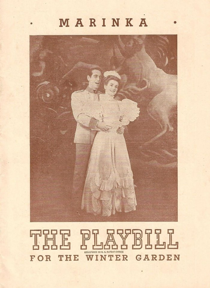 "Playbill for ""Marinka"" from 1945."
