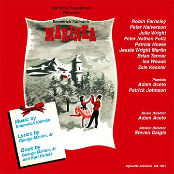 "The CD cover for the 2006 recording of ""Marinka,"" issued by the Operetta Foundation in Los Angeles."