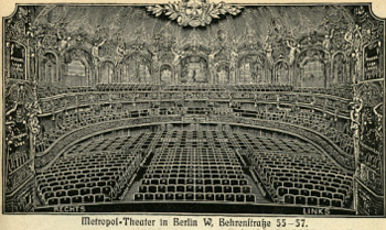 The interior of the old Metropoltheater in Berlin, today housing the Komische Oper.
