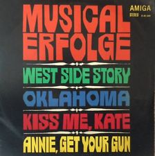 An LP from East Germany, released by the company Amiga, with various classic Broadway musicals.