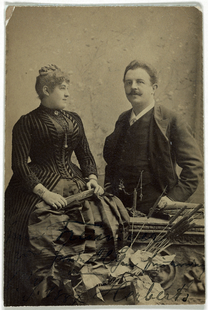 Victor Herbert and Therese Herbert-Förster, 1887.