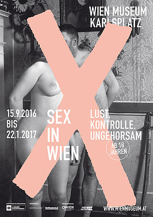 "The post for the exhibition ""Sex in Wien"" at the Wien Museum 2016."