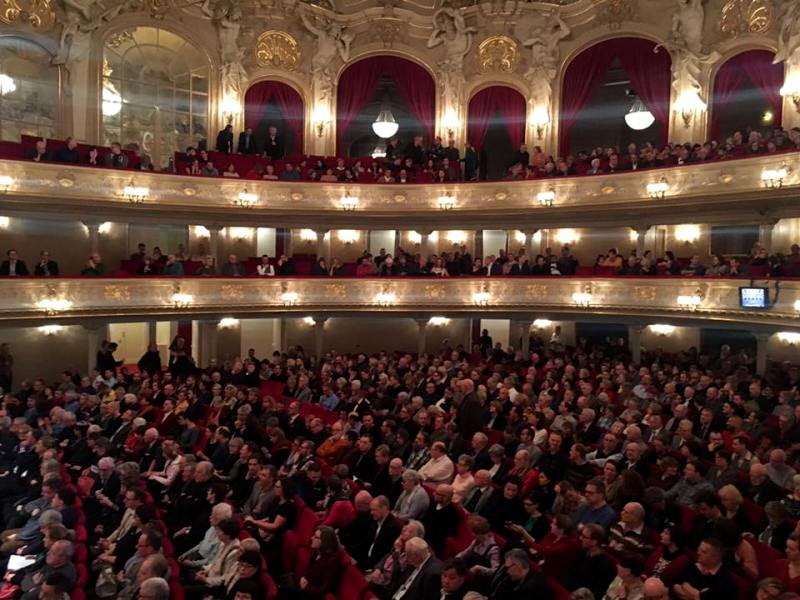 "The nearly full house for the second performance of ""Marinka"" at the Komische Oper Berlin. (Photo: Private)"