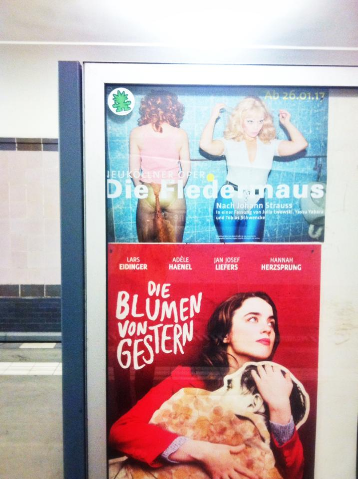 "Advertisement for ""Die Fledermaus"" in the Berlin subway system. (Photo: Private)"