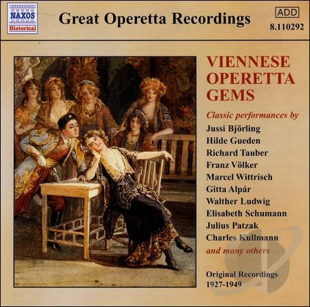"CD cover for Naxos ""Viennese Operetta Gems."""
