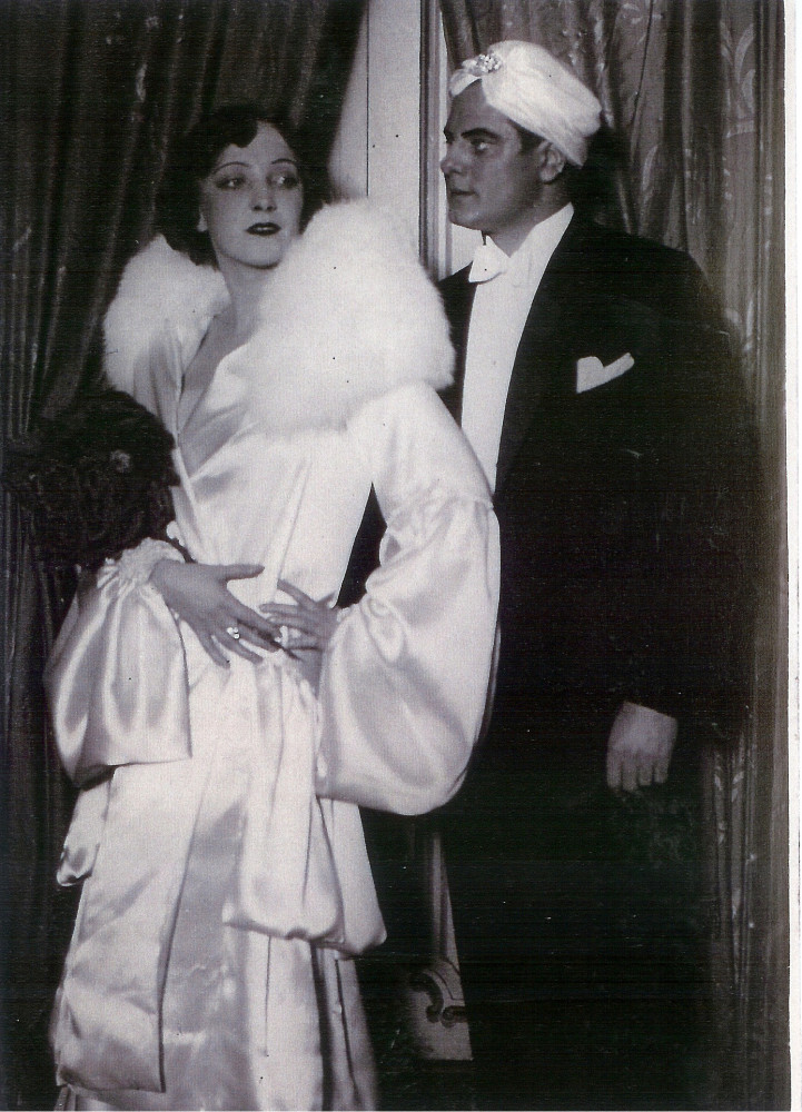 """Bajadere"" 1929 at the Johann Strauß Theater in Vienna, with Walter Jankuhn and Annie Ahlers. (Photo: Operetta Research Center)"