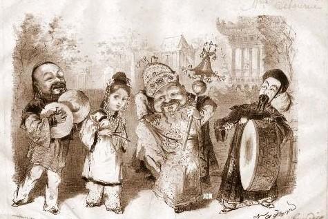 "Sheet music cover for Offenbach's ""Ba-Ta-Clan."""