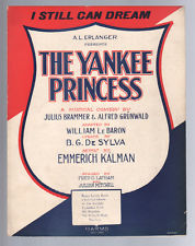 "Sheet music cover for ""The Yankee Princess"" from 1922, the Broadway adaptation of Kalman's ""Bajadere."""