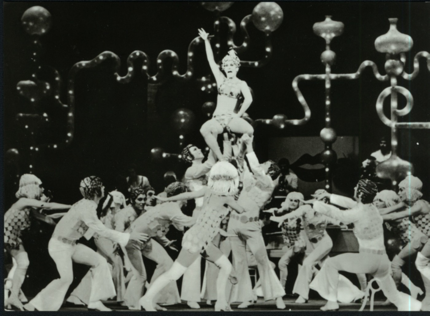 "Scene from the DDR show ""Eine Frau nach Maß,"" 1971."