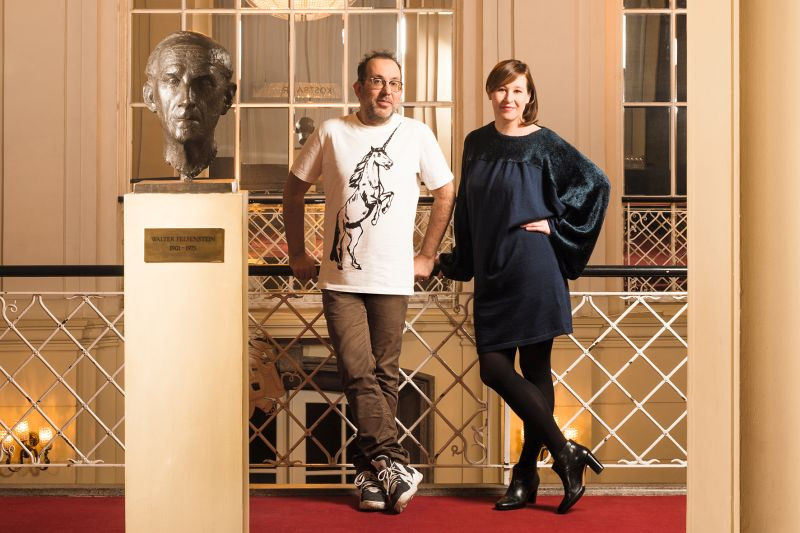 Barrie Kosky and Komische Oper's Financial Director, Susanne Moser (Photo: Jan Windszus Photography)