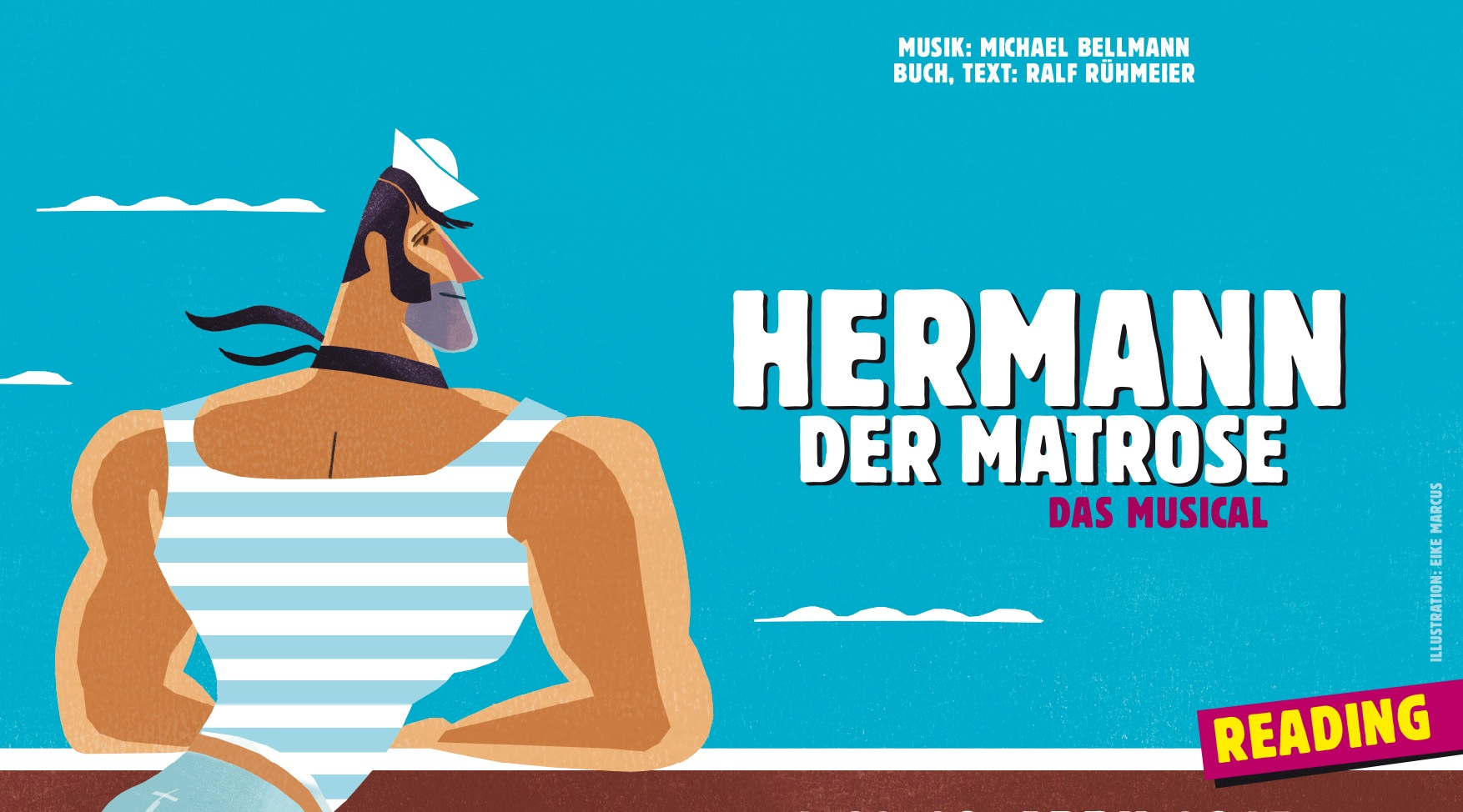 "Poster for ""Hermann der Matrose"" by Michael Bellmann and Ralf Rühmeier."