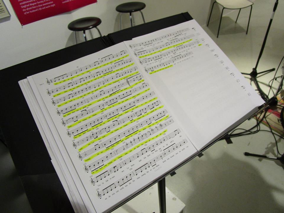 """The score for """"Liebeslied von Mann zu Mann"""" from """"Operette für zwei schwule Tenöre."""" (Photo: Schwules Museum*)"""