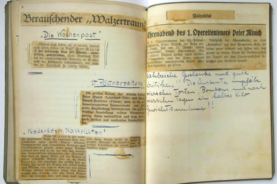 """Peter Minich At St. Pölten's Stadtmuseum: """"Ein Leben für die Musik"""""""