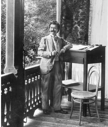 Johann Strauss in Ischl, 1897. (Photo: Die Villen von Bad Ischl/Amalthea)