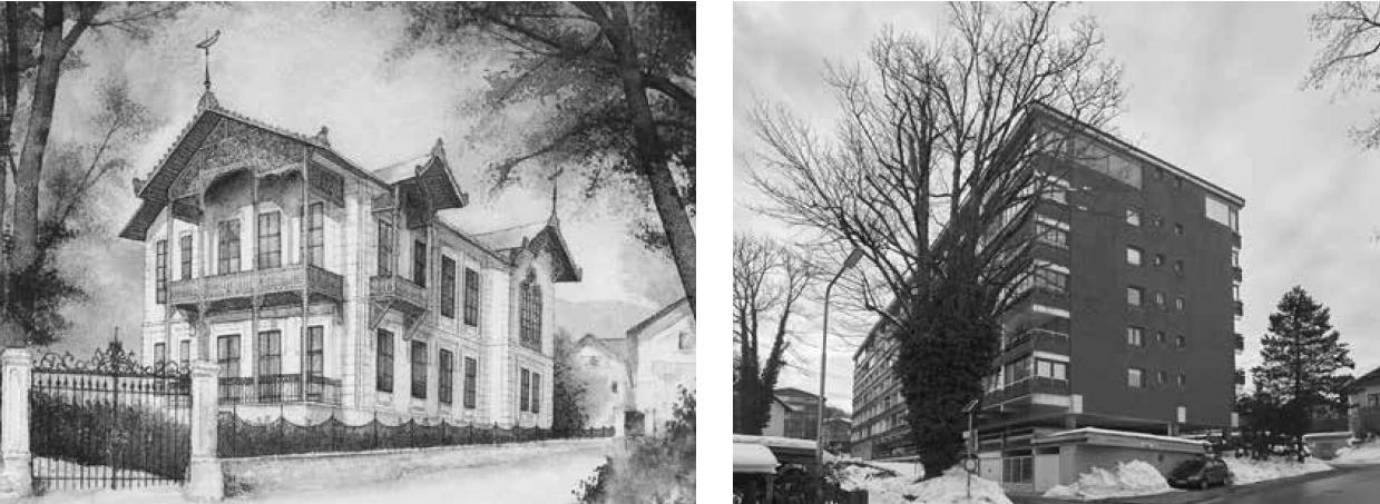 The Johann Strauss villa, then and now. (Photo: Die Villen von Bad ischl/Amalthea)