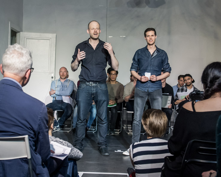 The authors Michael Bellmann (r.) and Ralf Rühmeier. (Photo: Benjamin Pritzkuleit)