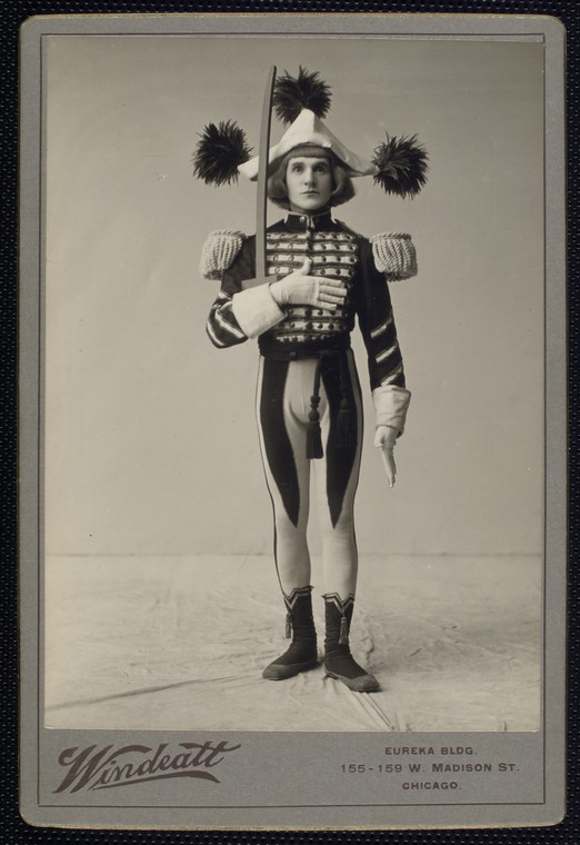 "William Norris as a toy soldier in the 1903 production of ""Babes in Toyland."""