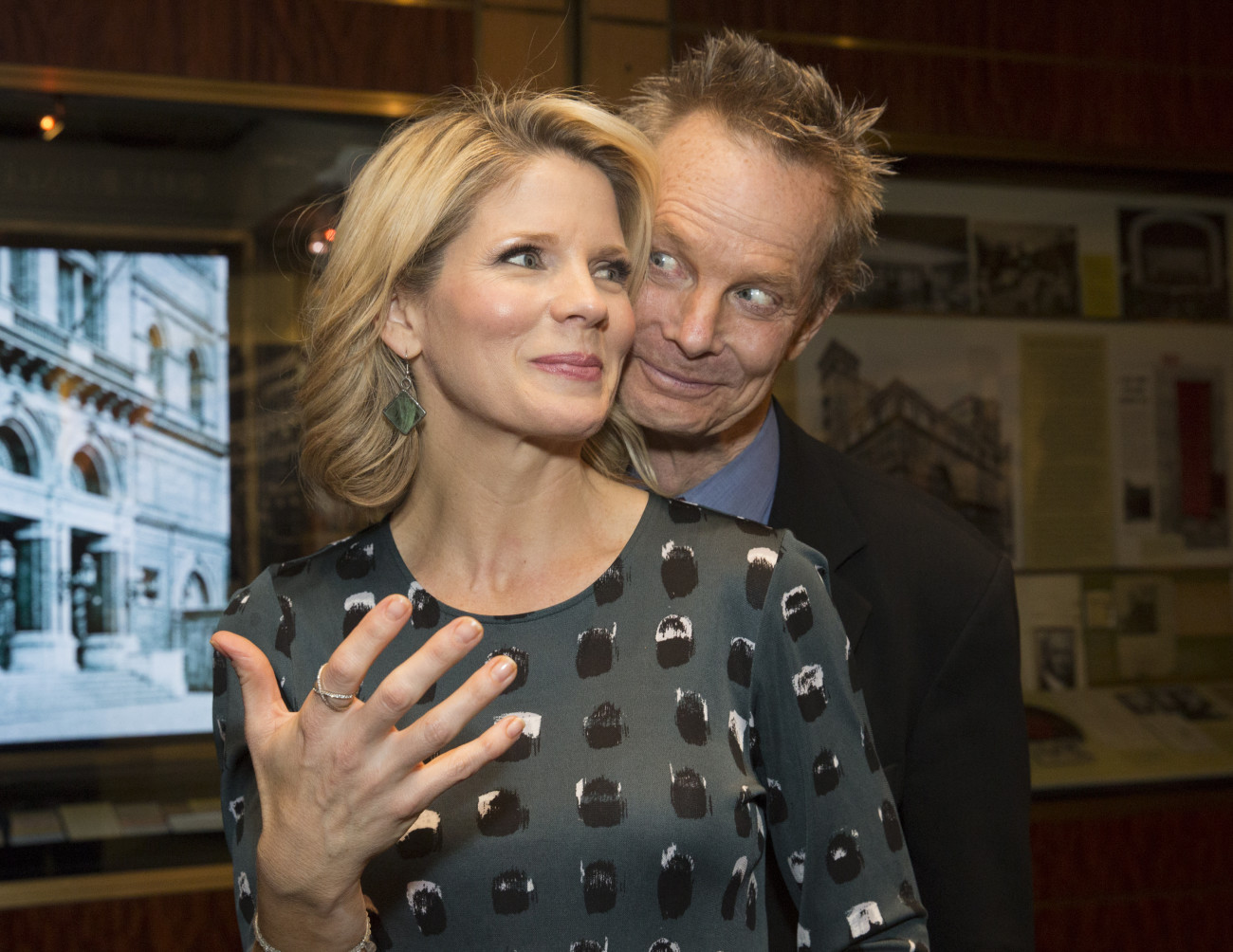 "Kelli O'Hara and Bill Irwin at the ""Babes in Toyland"" performance, 2017. (Photo: Erin Baiano)"