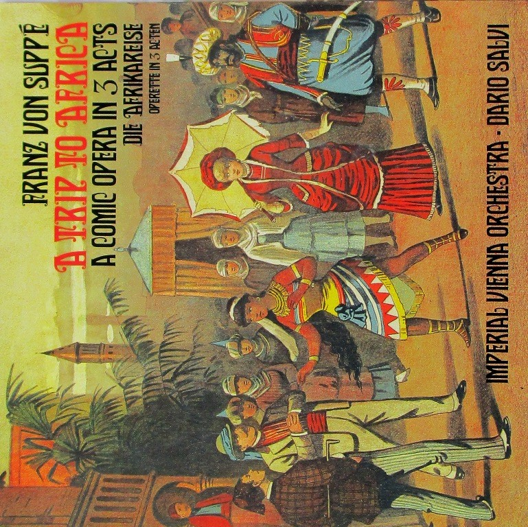 """CD cover for """"A Trip to Africa"""" with the Imperial Vienna Orchestra."""