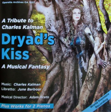 "CD cover for the cast album of ""Dryad's Kiss."""