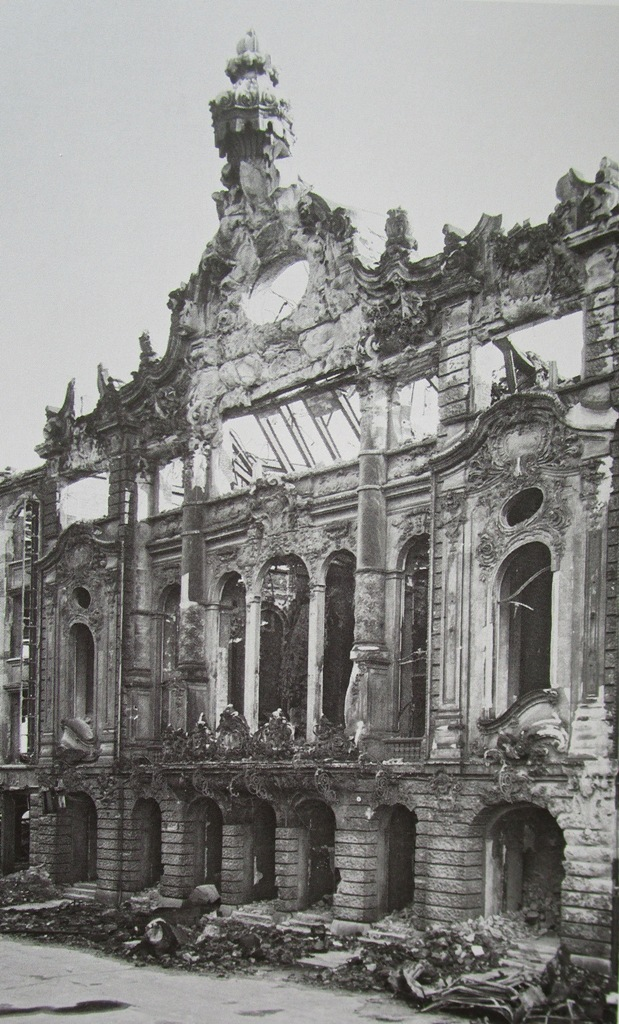 "The ruins of the Central Theater in Dresden in 1946. (From: Andreas Schwarze's ""Metropole des Vergnügens,"" Sax-Phon Press 2016)"