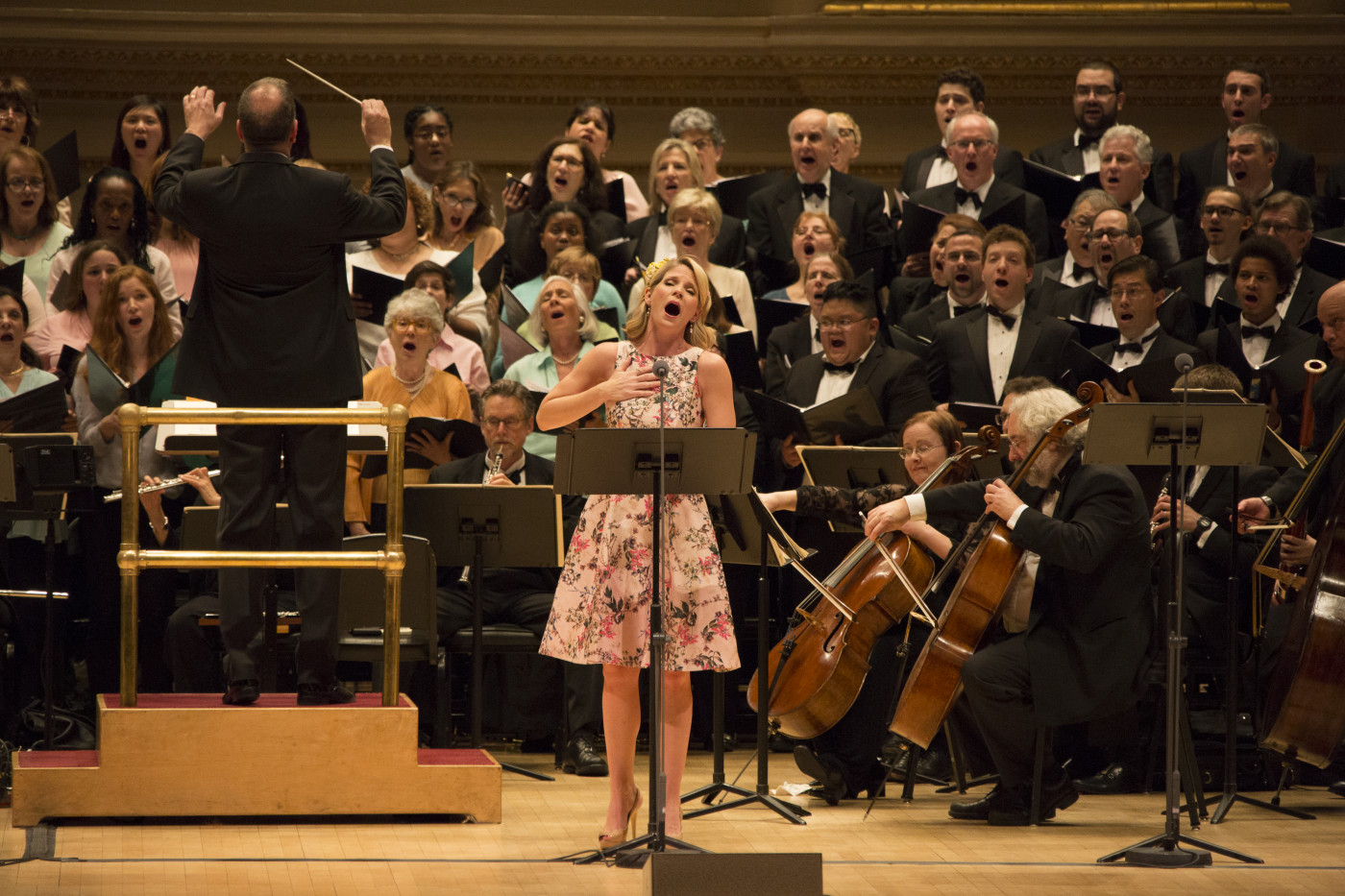 "Kelli O'Hara with the Orchestra of St. Luke's in ""Babes in Toyland."" (Photo: Erin Baiano)"