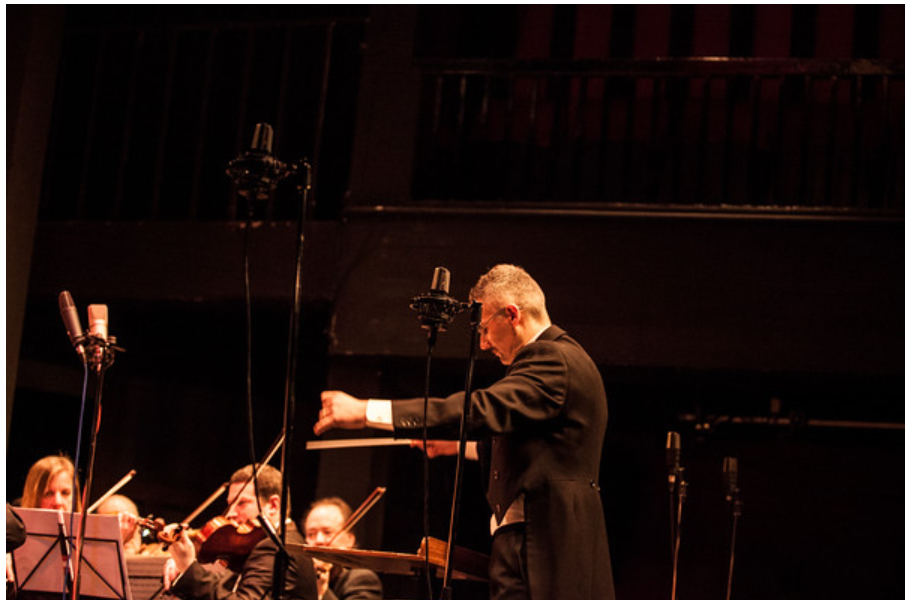 Dario Salvi conducting the Imperial Vienna Orchestra at Maddermarket Theatre, Norwich. (Photo: Mark Stimpson Photography)