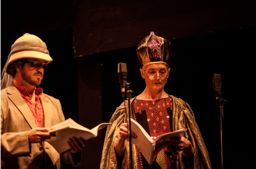"""Andrew Inglis (l.) as Miradillo in """"A Trip to Africa,"""" 2016. (Photo: Mark Stimpson Photography)"""