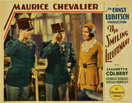 "Poster for the Ernst Lubitsch version of ""Ein Walzertraum,"" the movie ""The Smiling Lietenant"" (1931)."