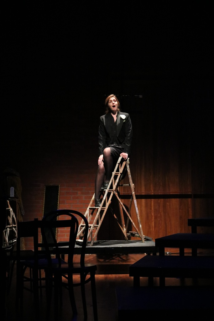 """Current NI Opera Studio member Elaine McDaid will perform the role of Alexis (""""Tulipatan""""). Here she is seen in the NI Opera Studio production of """"If you can find me - an evening with songs by Stephen Sondheim."""" (Photo: Opera Nothern Ireland)"""