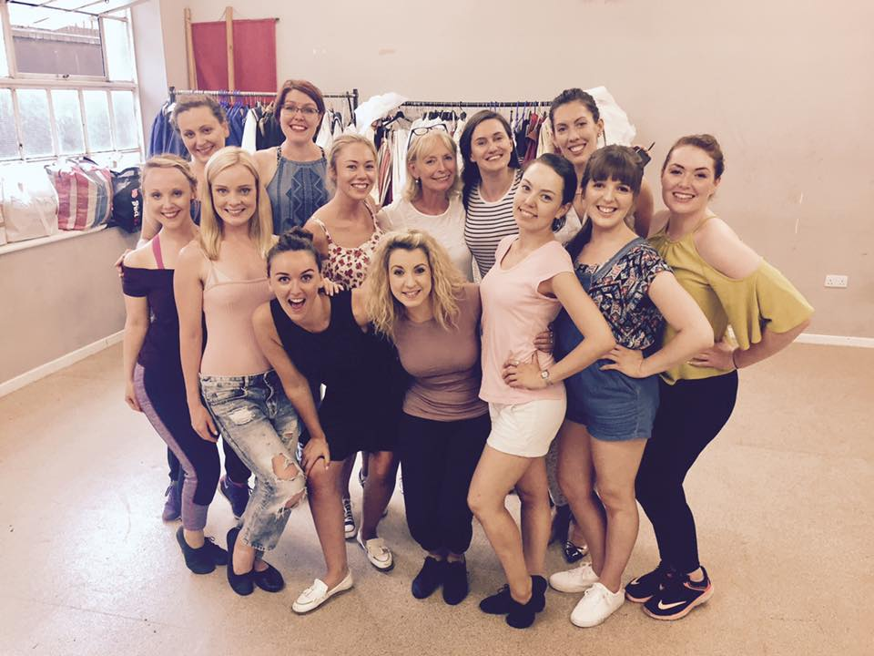 The ladies of the NG&SOC have been 'climbing over rocky mountain' in rehearsals with choreographer Mary MacDonagh. (Photo: National Gilbert & Sullivan Opera Company)