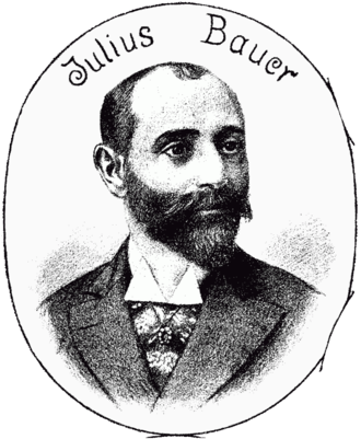 "The young Julius Bauer as show in the 1893 issue of ""Der Floh."""