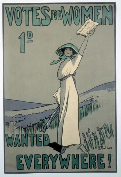 Votes for Women poster, 1909.