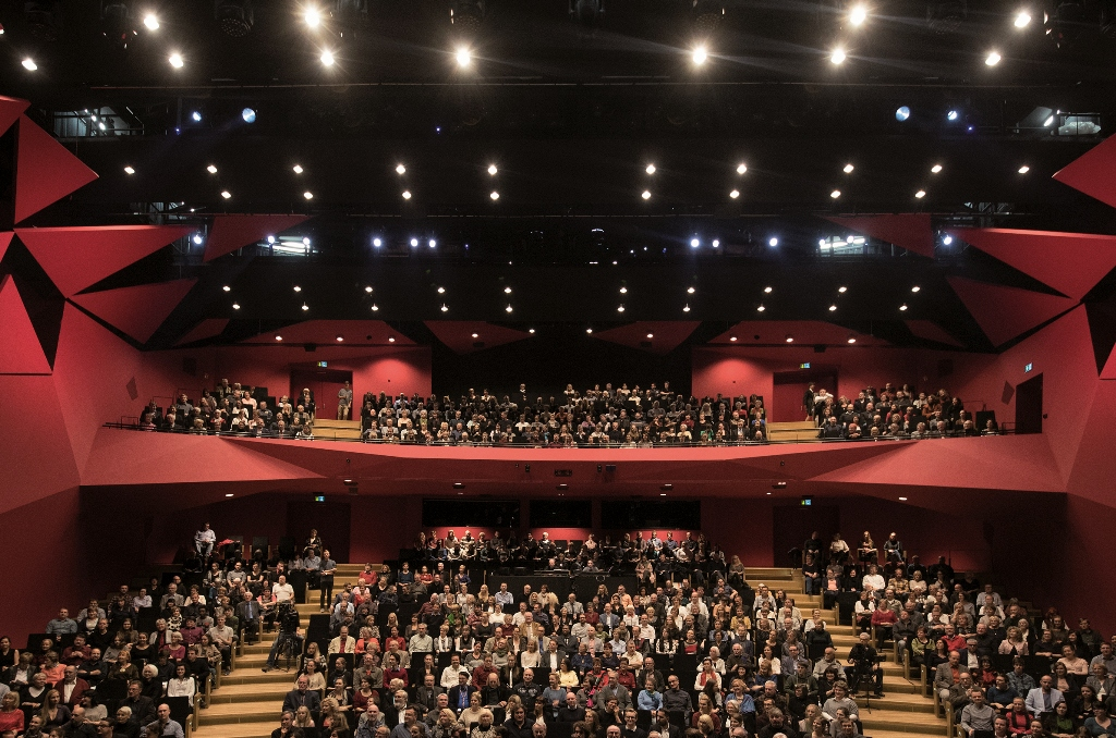 The new auditorium of the Staatsoperette Dresden. (Photo: Stephan Floß)