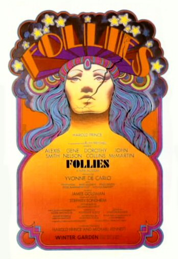 "The original Broadway ""Follies"" poster, 1971."