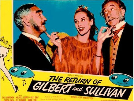 "Movie poster for ""The Return of Gilbert and Sullivan,"" 1950."
