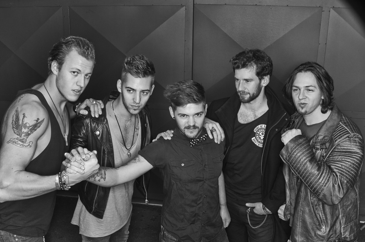 Maximilian Mayer (second from left) with his former rock band. (Photo: Tom Leather)