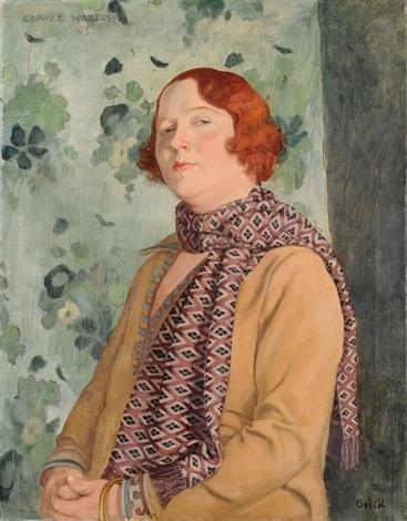 """Emil Orlik's """"Portrait von der Chansonsängerin Claire Waldoff."""""""