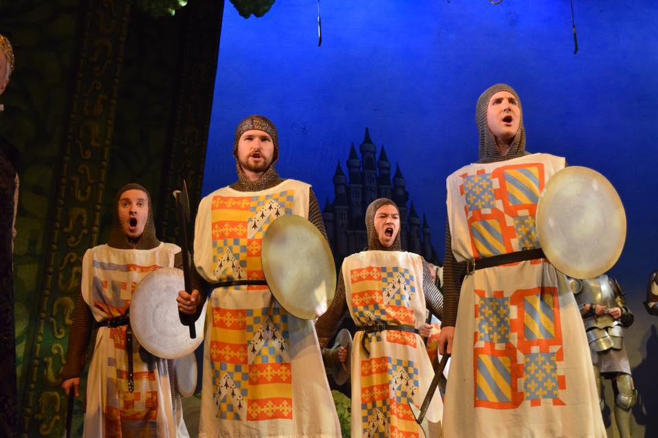 "The knight's chorus in ""Princess Ida."" (Photo: National Gilbert & Sullivan Opera Company)"