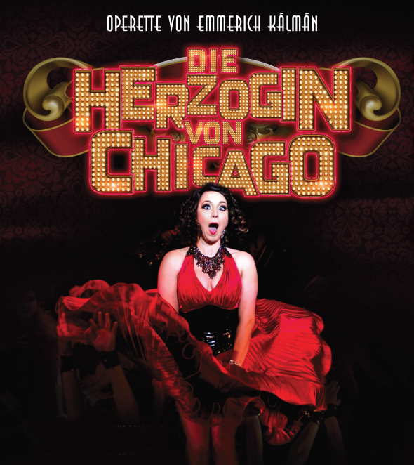 "Poster for the German premiere of ""Herzogin von Chicago"" at the Deutsches Theater, Munich."
