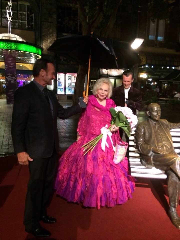 Yvonne Kalman arriving at her birthday party at the Kalman Theater in Budapest. (Photo: Bert-Jan van Egteren)