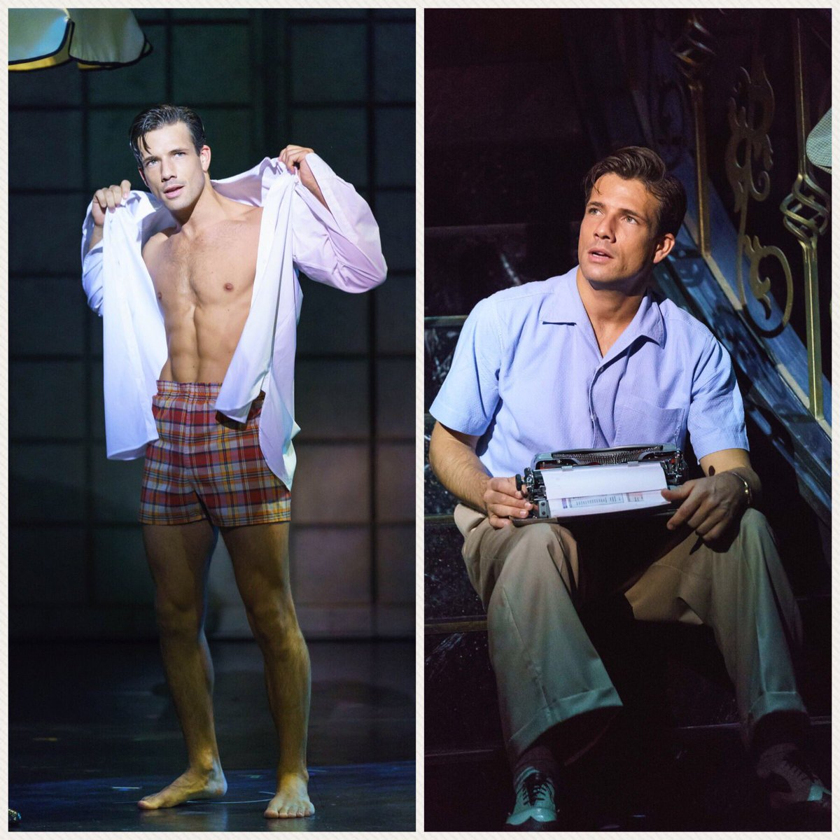 "Danny Mac as Joe Gillis in ""Sunset Boulevard,"" UK produktion 2017. (Photo: Instagram)"