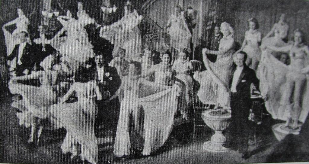 """Scene from """"Melodie der Nacht,"""" 1939. (From Matthias Kauffmann's """"Operette im 'Dritten Reich'."""")"""